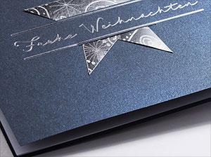 firmen weihnachtskarten blau mit stern i rt17007. Black Bedroom Furniture Sets. Home Design Ideas