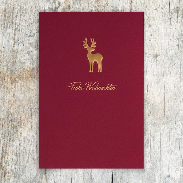 Firmen Weihnachtskarten Drucken.Rote Firmen Weihnachtskarten I Rt17015